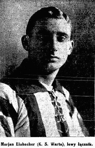 Marian Einbacher, napastnik Warty Poznań, zmarł 12 stycznia 1943 roku w Auschwitz