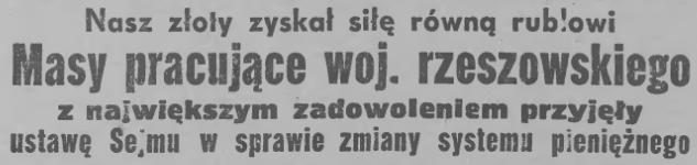 """""""Nowiny Rzeszowskie"""", 30 października 1950 (fot. ciekawostkihistoryczne.pl)"""