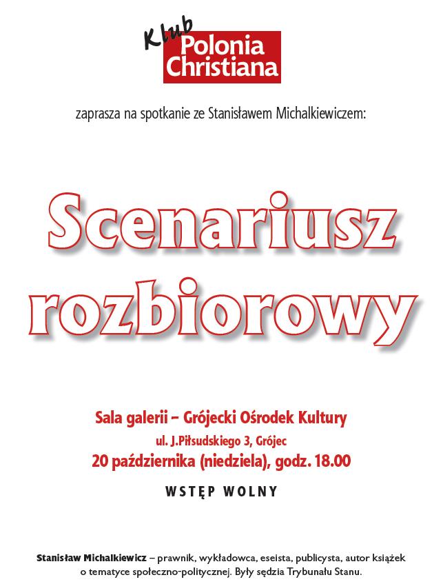 Spotkanie ze Stanisławem Michalkiewiczem w Grójcu