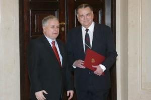 Jan Olszewski i prezydent Lech Kaczyński