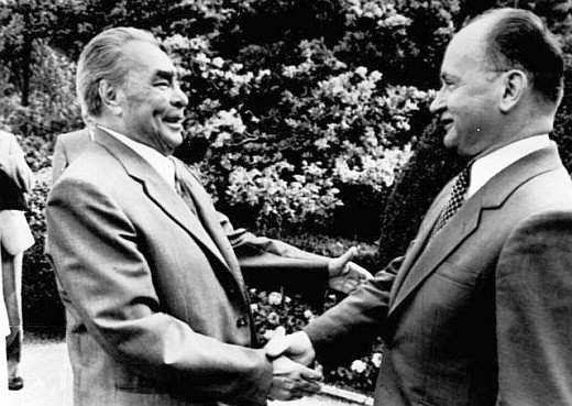 Wojciech Jaruzelski i Leonid Breżniew