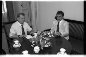 Lech Wałęsa i Waldemar Pawlak