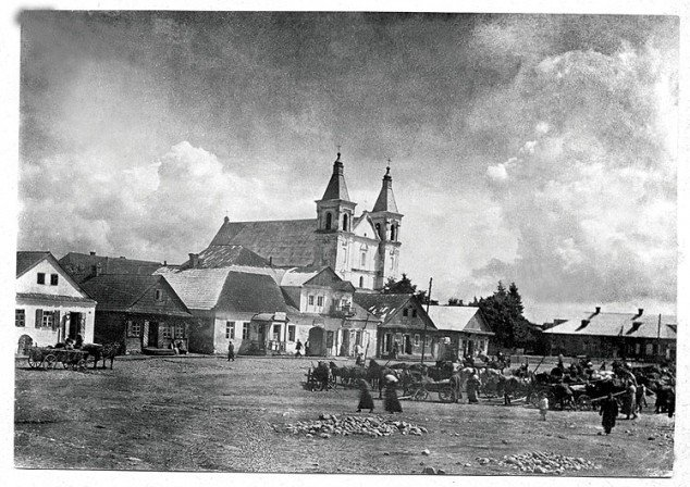 """""""Kleck – rynek i kościół"""", 1937 r."""