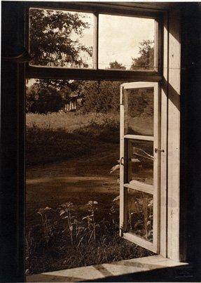Bohdanów - widok z okna dworu, 1925