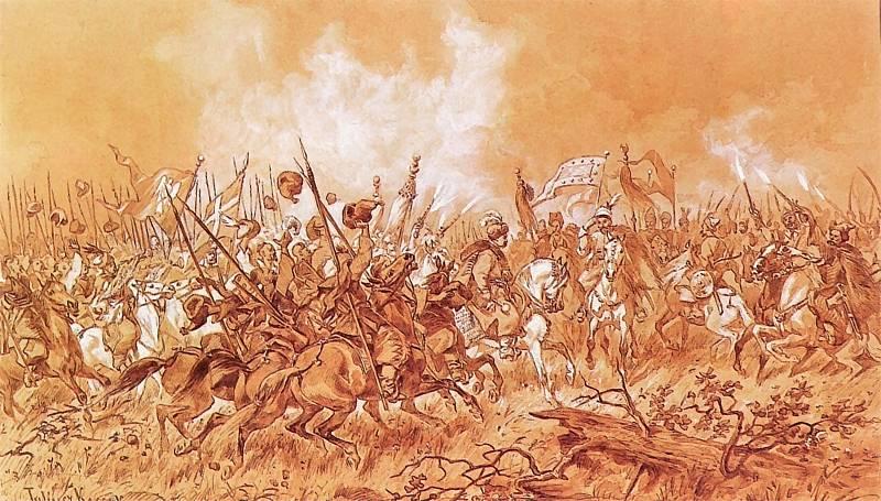 Spotkanie Chmielnickiego z Tuhaj Bejem (szkic)