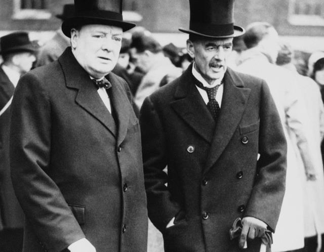 Neville Chamberlain and Winston Church