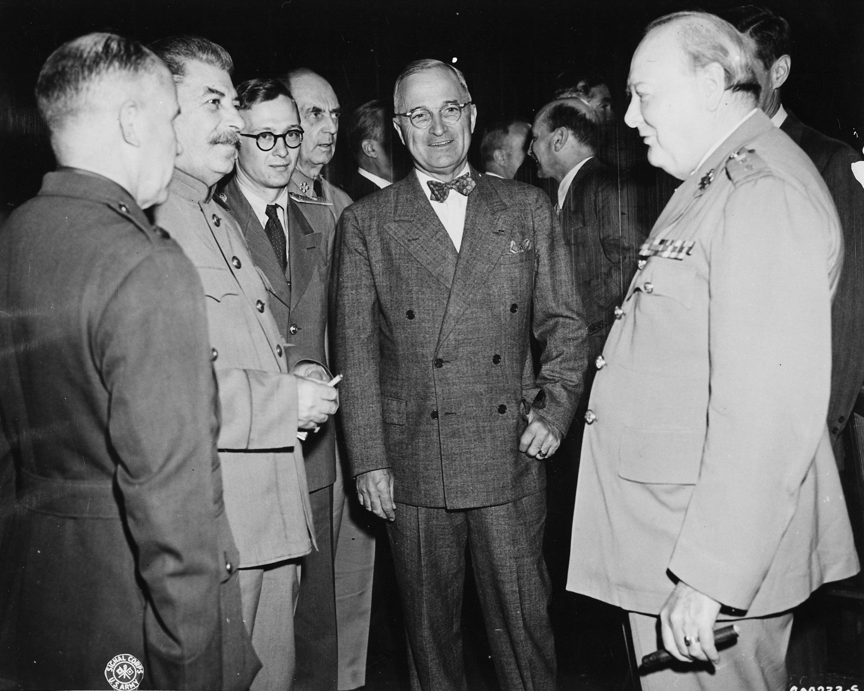 W Poczdamie: Stalin, Truman i Churchill