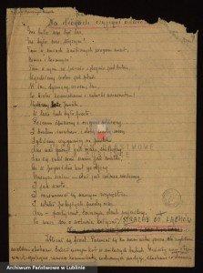 Dokument przechowywany w zasobie Archiwum Państwowego w Lublinie, zespół archiwalny: ZWZ-AK Okręg Lubelski, sygn. 197, s. 78.