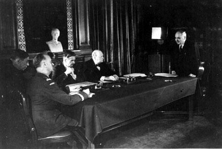 Władyslaw Sikorski, Anthony Eden, Winston Churchill i Iwan Majski