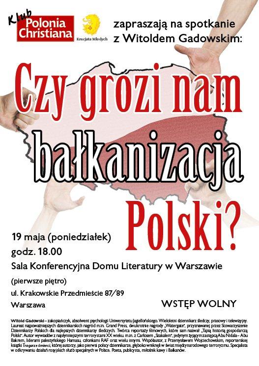 plakat A3_gadowski_balkanizacja_W-wa