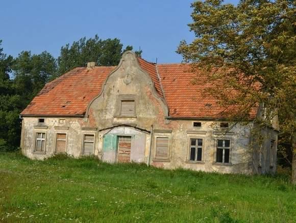 zniszczony dwór z początku XIX wieku (fot. Adam Lewandowski) - Orle (osada w gminie Mrocza)