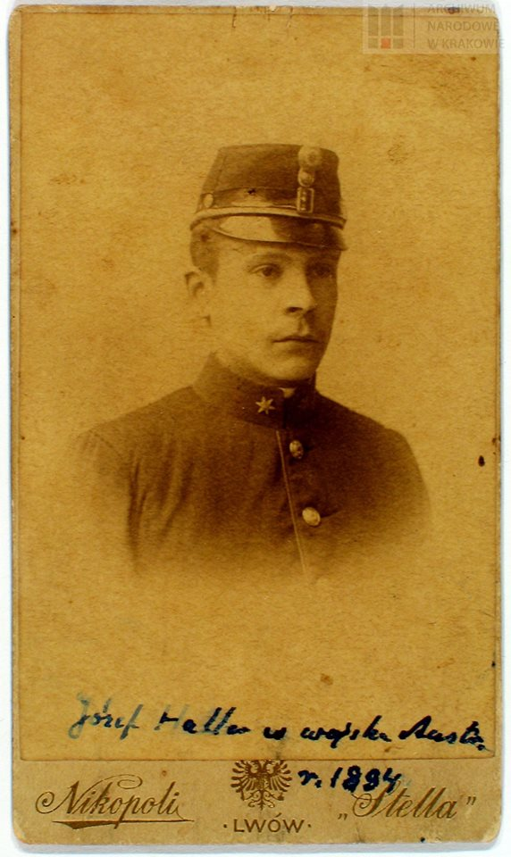 Józef Haller w mundurze c.k. porucznika artylerii, 1894 r.