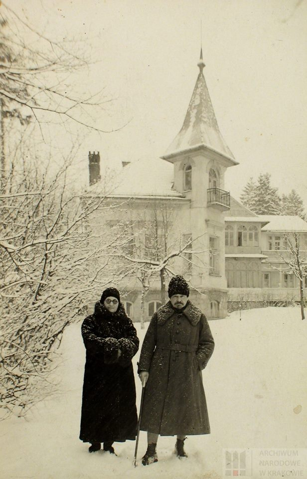 Gen. Józef Haller z siostrą, Anną Haller, lata 20. XX w.