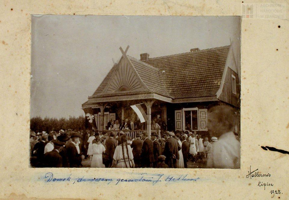 Uroczystość przekazania gen. Józefowi Hallerowi domku w Hallerowie (ob. Władysławowo