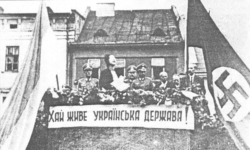 Wiec ukraiński na przemyskim Rynku w 1941 r.