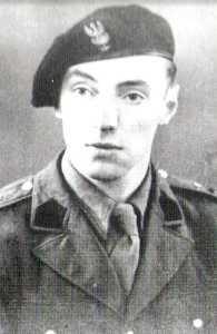 """Por. Zygmunt Błażejewicz """"Zygmunt"""", dowódca 1 szwadronu 5 Brygady Wileńskiej AK (1946 r.)"""