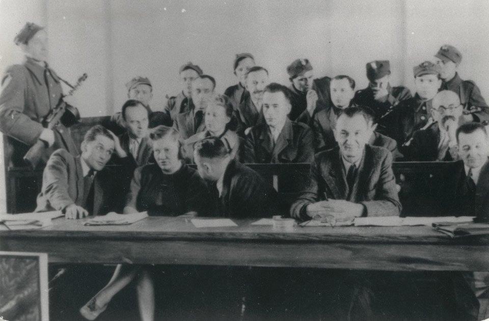 Ława oskarżonych wprocesie Witolda Pileckiego