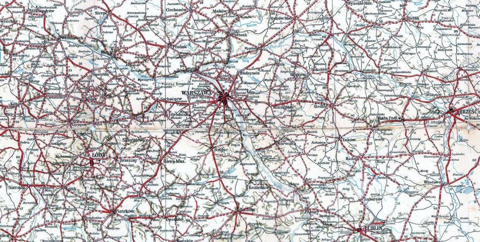 Polska Mapa Samochodowa Na Rok 1936 37 Niezlomni Com