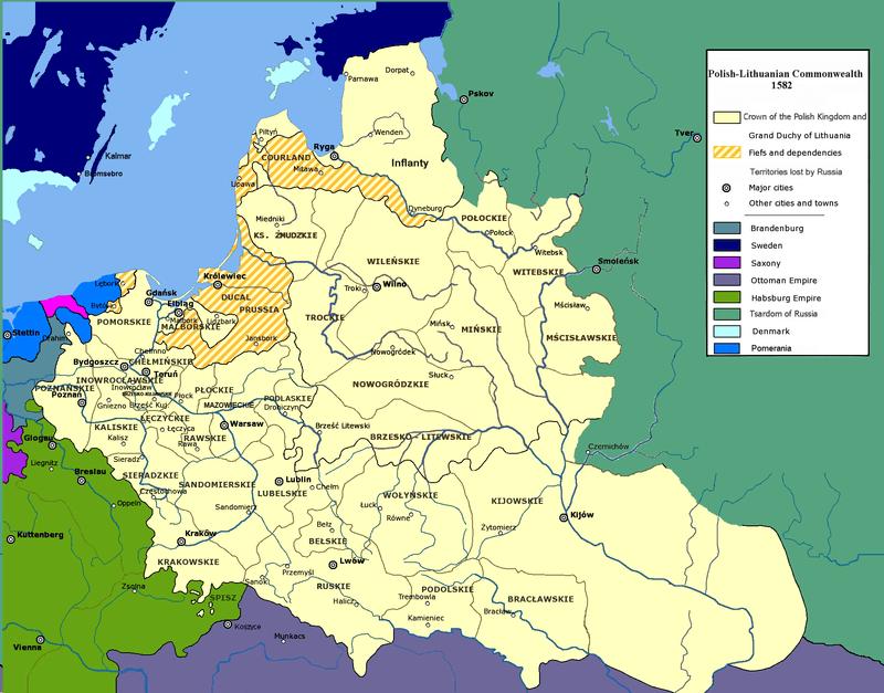 Rzeczpospolita w 1582 r.