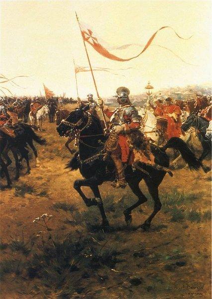 Husaria przed bitwą pędzla Józefa Brandta