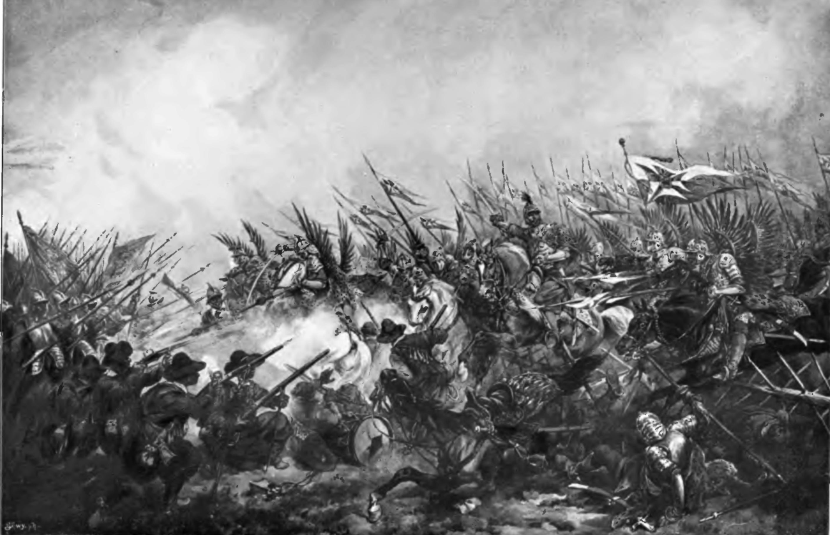 Jan Gniewosz naczele chorągwi husarskiej, dzieło Juliusza Kossaka