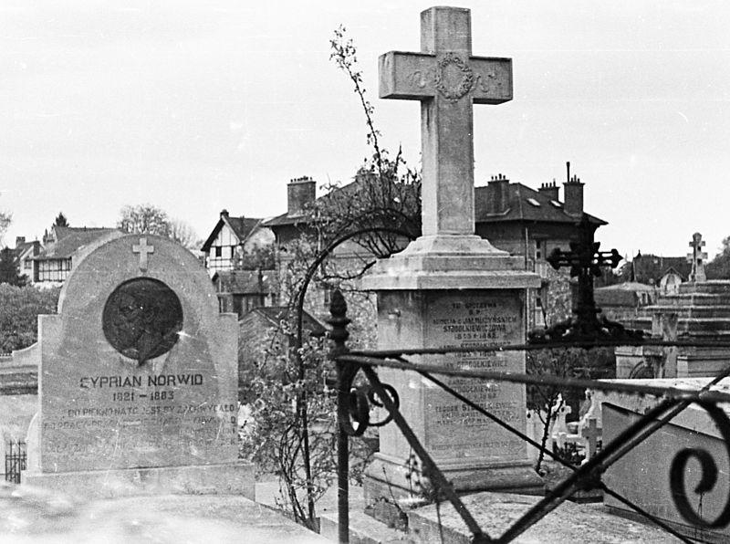 Grób Norwida na cmentarzu Les Champeaux w Montmorency