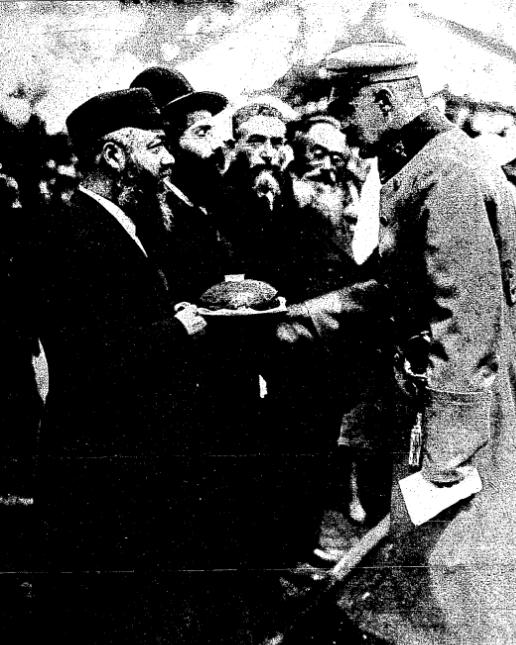 Marszałek Józef Piłsudski przyjmujący delegację żydowską