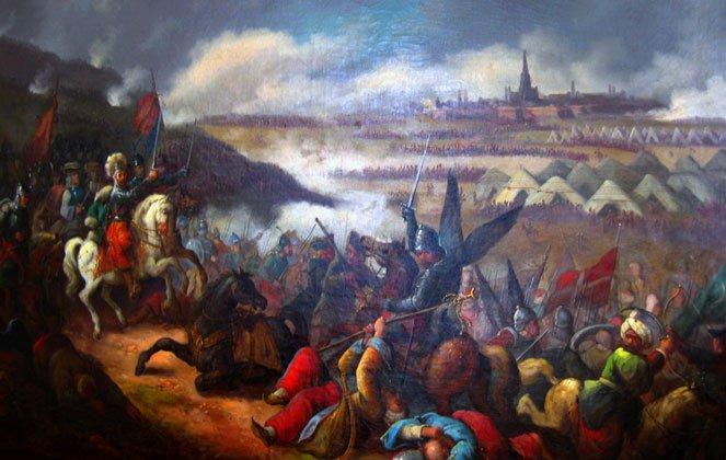 """itwa podWiedniem"""" - reprod. fot. obrazu Jana Krzysztofa Damela (1780-1840)"""
