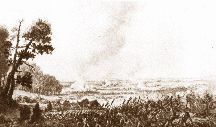 Aleksander Orłowski, Bitwa pod Maciejowicami (widok od strony polskiej)