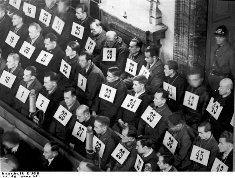 Personel Auschwitz na procesie w Norymberdze, fot. wikipedia.pl