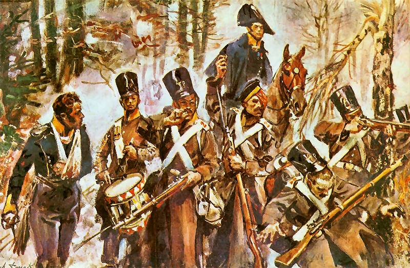 Grupa czwartaków w bitwie o Olszynkę