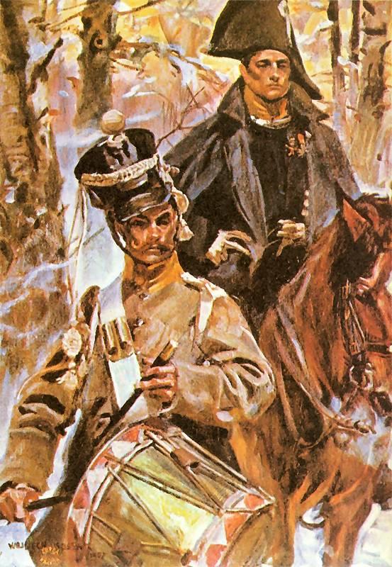 Oficer i dobosz w bitwie pod Grochowem