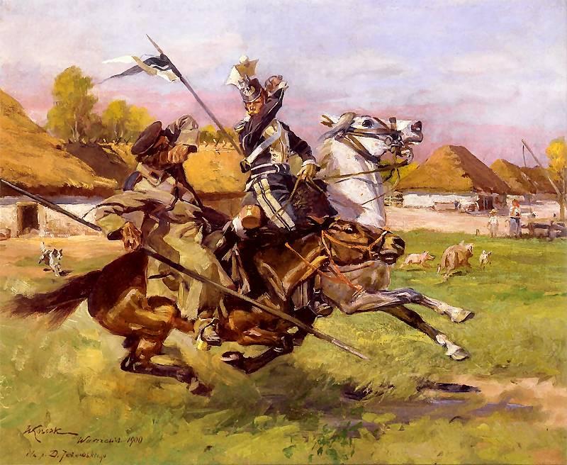 Ułan w walce z Kozakiem - epizod z Powstania Listopadowego