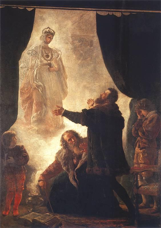 Duch Barbary Radziwiłłówny, obraz autorstwa Wojciecha Gersona, 1886 r.