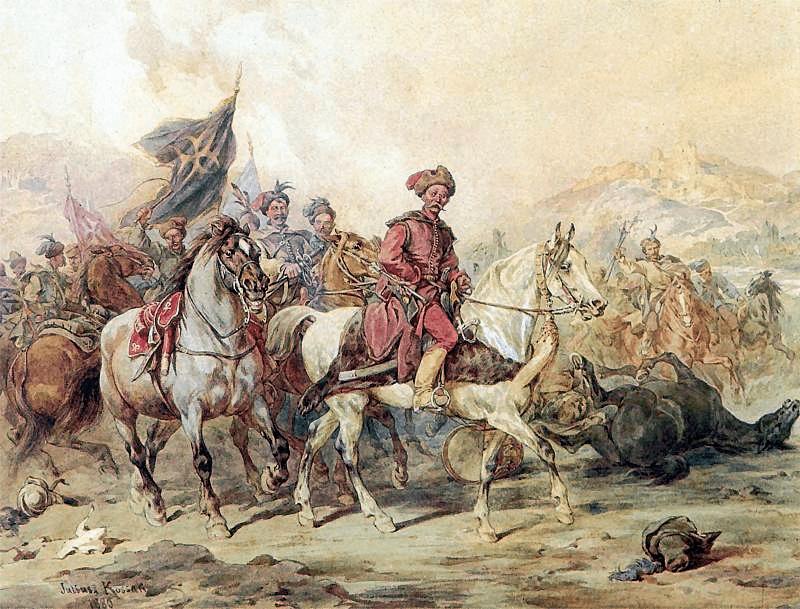 Lisowczycy – akwarela Juliusza Kossaka