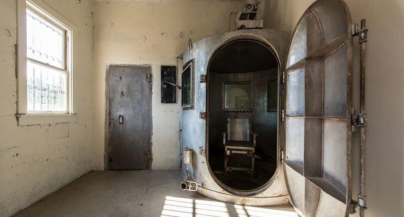 komora w Wyoming Frontier Prison