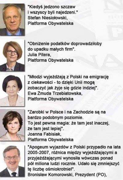 Top 5 Złotych Myśli Polityków Platformy Obywatelskiej