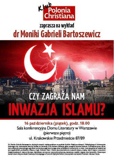 plakat A3 Bartoszewicz islam W-wa