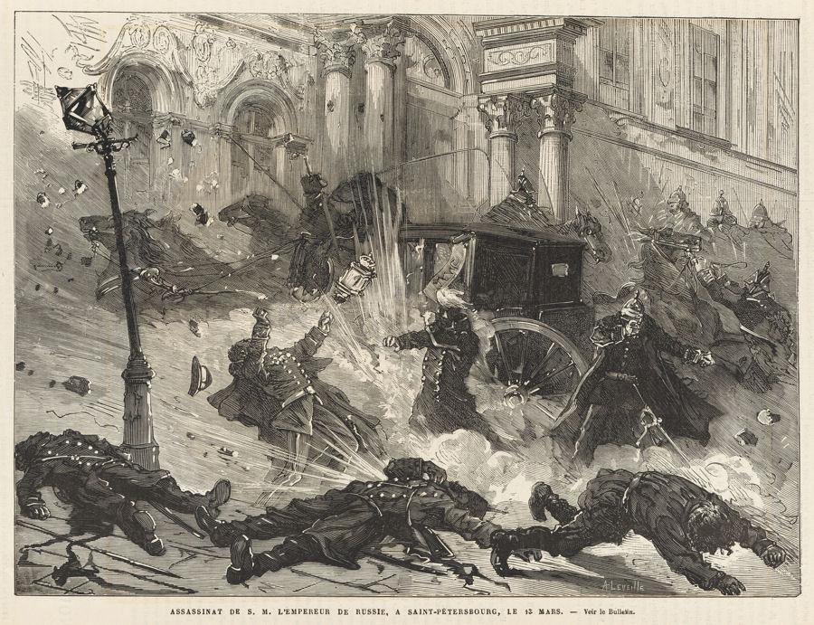 zamach na Aleksandra II na rycinie z tygodnika L'Univers illustré