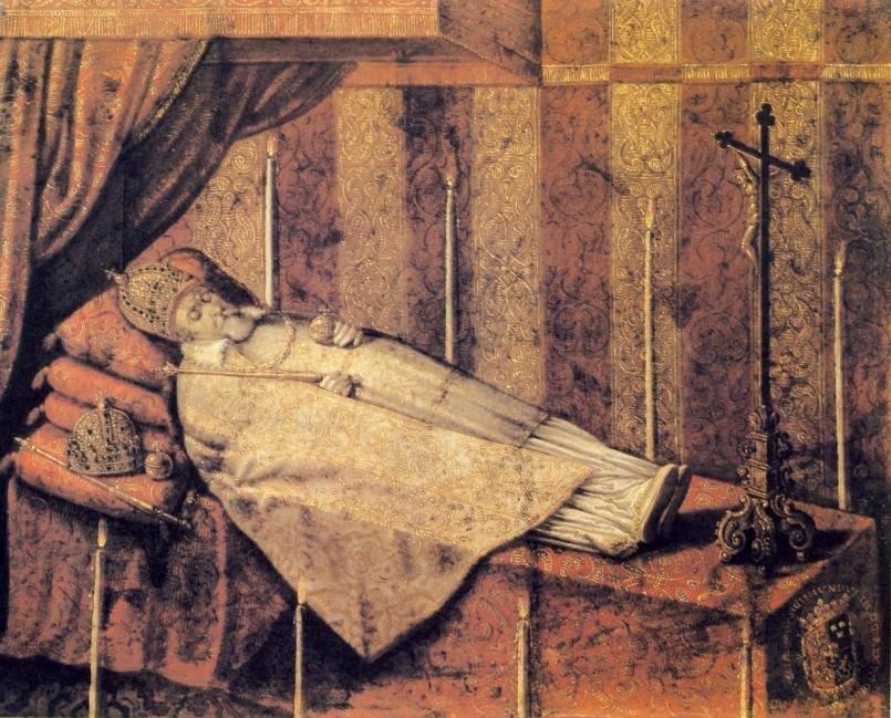 Zygmunt III na katafalku, obraz Christian Melich, 1633 r.
