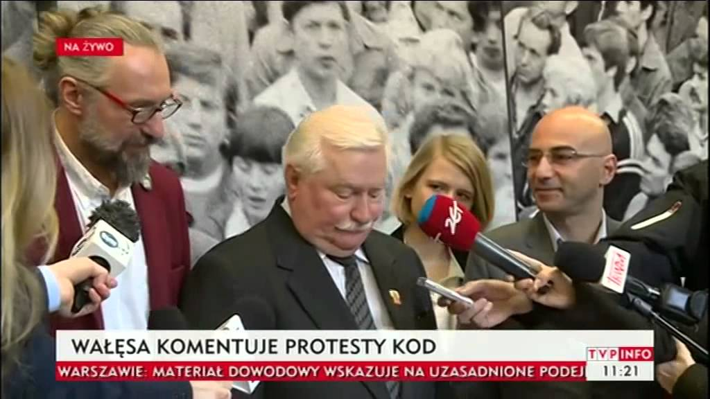 Lech Wałęsa i Mateusz Kijowski