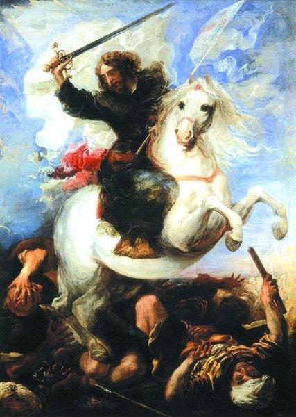 "Juan Carreńo de Miranda ""Św. Jakub w bitwie pod Clavijo"""