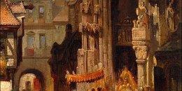 """Carl Emil Doepler - obraz """"Procesja Bożego Ciała"""""""