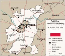 Położenie Polskiego Kraju Narodowo-Terytorialnego