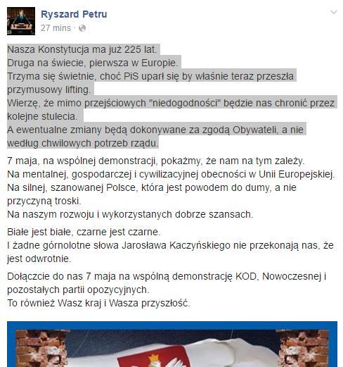 Ryszard Petru-konstytucja