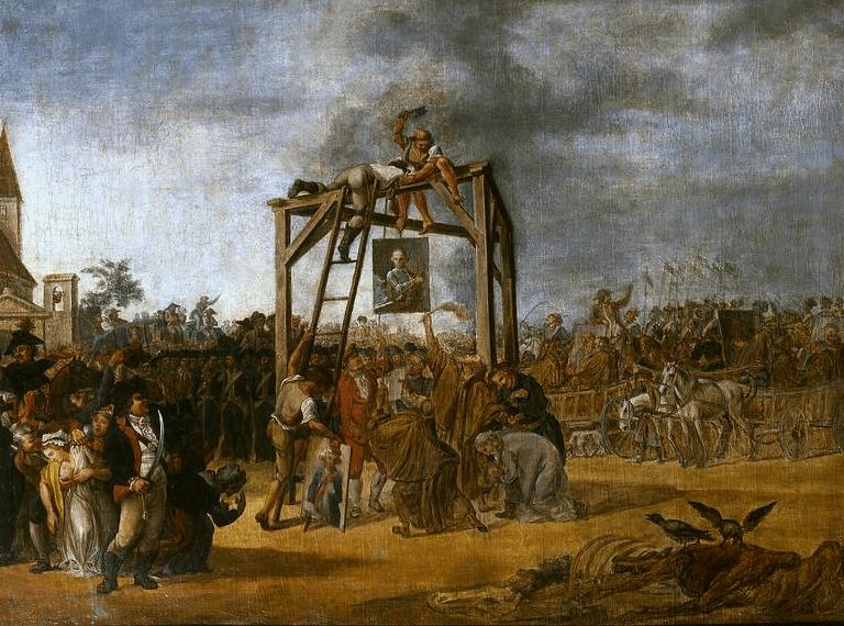 Wieszanie zdrajców (in effigie) Jan Piotr Norblin