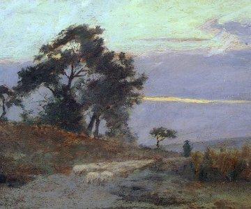 Obraz: Maksymilian Gierymski i Krajobraz o wschodzie słońca
