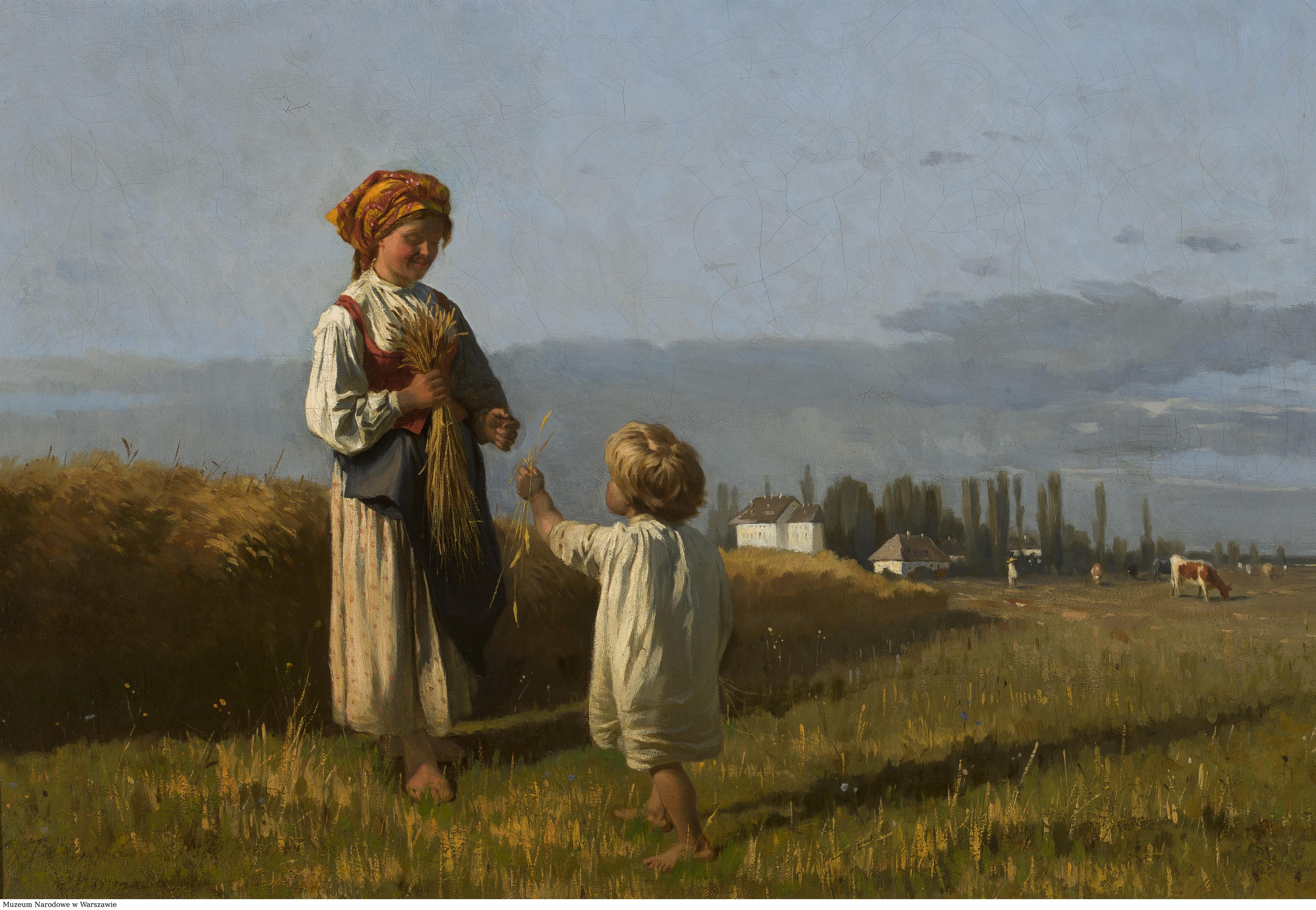 Władysław Szerner i obraz Zbieranie kłosów