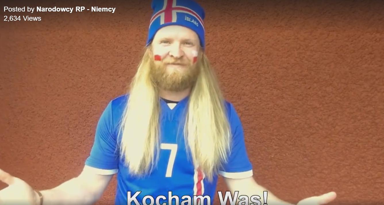 Islandczyk kibicuje Polsce