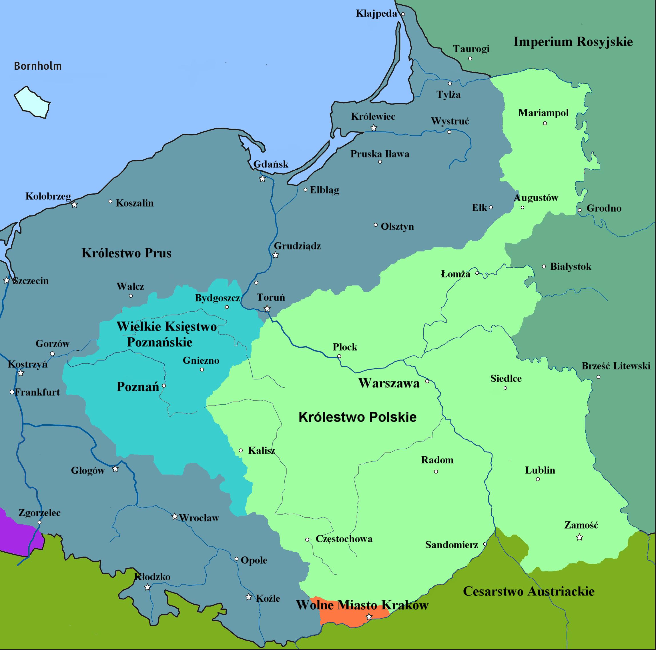 20 czerwca 1815 proklamowano utworzenie Królestwa Polskiego